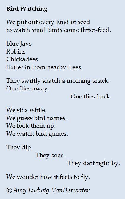 Bird Watching - Watching & Wondering | Poetry for kids ...
