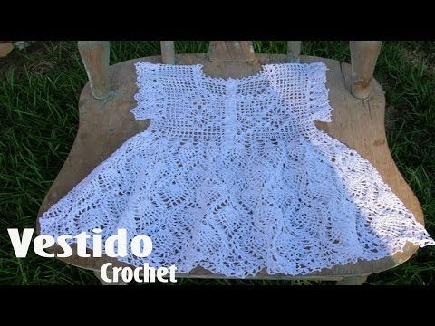Vestidos Para Niña Tejidos en Crochet Ganchillo - YouTube