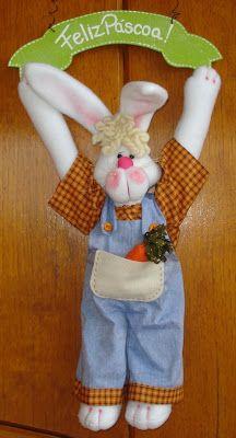 Vi no Picasa da Meire Cortês e achei lindo esse casal de coelhos. Muito fofos!