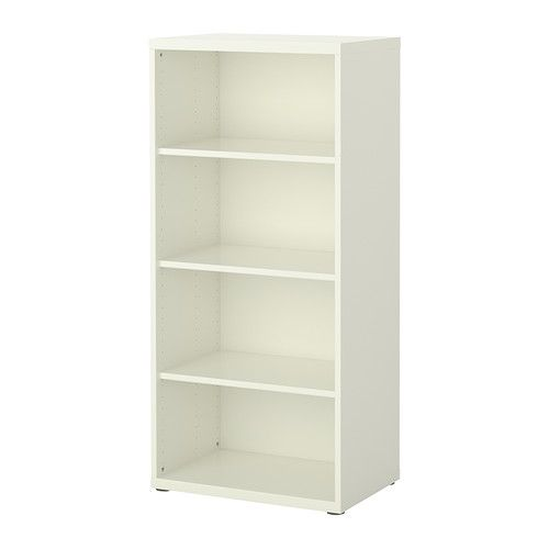 IKEA - BESTÅ, Shelf unit, white, , The shelves are adjustable so you can customize your storage as needed.Adjustable feet for stability on uneven floors.