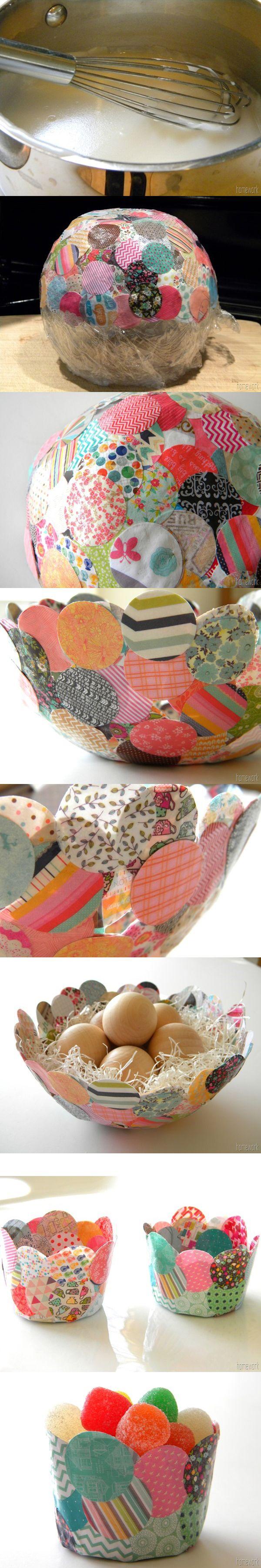 Original bol de confeti y papel maché