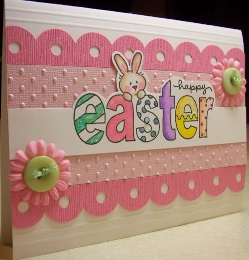Easter card that would be great with CTMH Framework stamp set