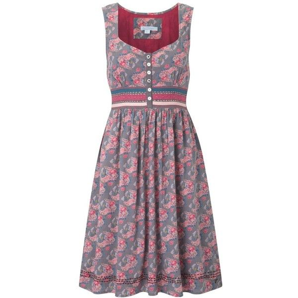Multi coloured pretty flower tea dress ($39) ❤ liked on Polyvore featuring dresses, women's clothing, multi color dress, multi colored dress, blossom dress, tea dress and joe brown dresses