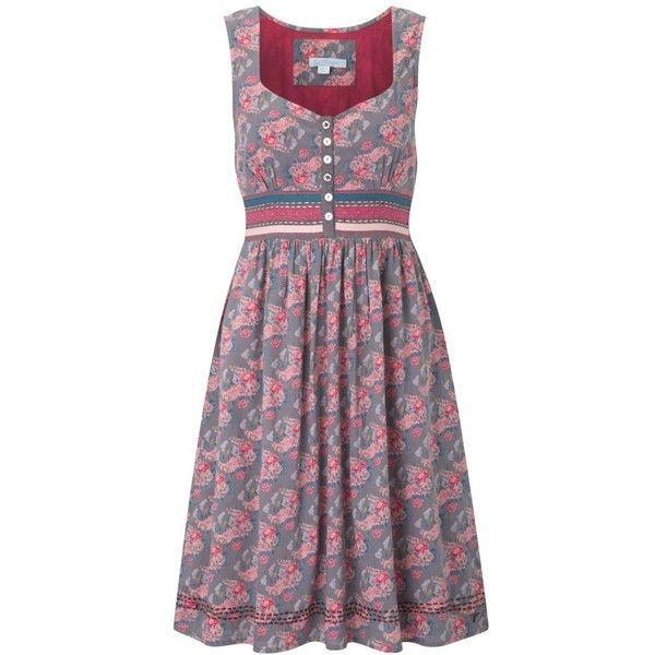 Multi coloured pretty flower tea dress ($67) found on Polyvore