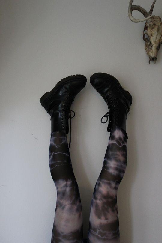 tie dye tights