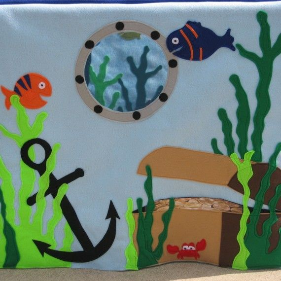 Under the Ocean Card Table Playhouse Custom by missprettypretty