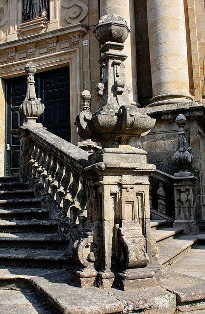 Escaleras del  Monasterio de San Martín Pinario, Santiago de Compostela. A Coruña.