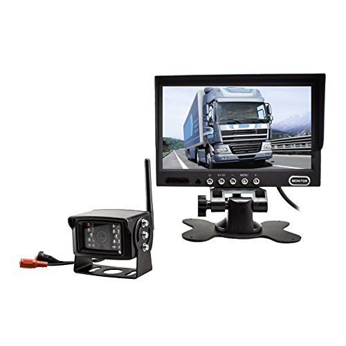 """Auto-Vox Digital Wireless Back-Up Camera System with 7"""" HD Rearview Monitor, Sony CCD Super Night Vision camera IP 68 Waterproof Rear view camera for Trucks -- Click image for more details."""