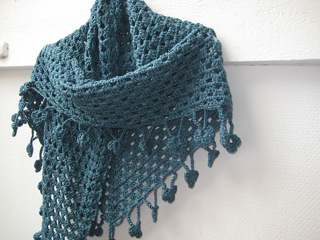 Half granny shawl pattern, I make these all the time, they are so quick and easy!