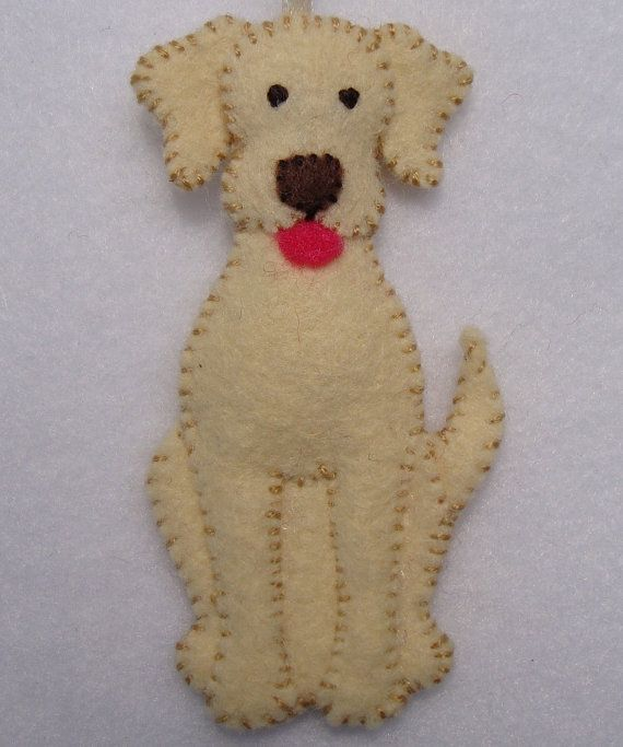 3 Felt Dog Ornament от AppliqueB4Christmas на Etsy