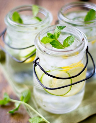 DIY detox DRINK - Lemon Mint Cucumber Water. Half lemon sliced, few thick slices cucumber, a couple mint leaves... Infuse overnight in. 64 oz pitcher of water. I aim to drink one pitcher/day. Feels great!