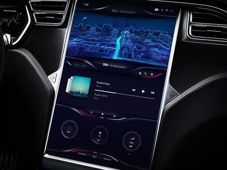 Tesla Dashboard Concept exploration by Gleb Kuznetsov #Design Popular #Dribbble #shots
