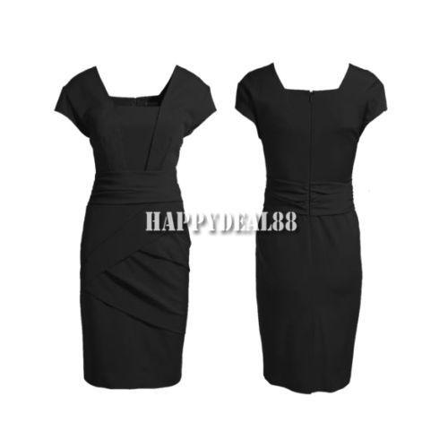 Lady Dress Elegant Trendy OL Office Lady Slim Business Fashion 3sizes HD23L Hot | eBay