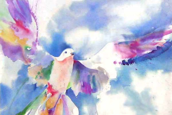 watercolor dove  inkspired musings: Peace doves around the world