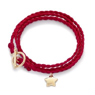 Red braid 34£ #braid #star #bracelet #red #christmas #present #goldplated