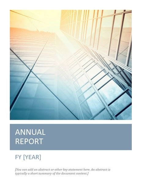 Annual report with cover photo (Timeless design) Scribe - microsoft word template report