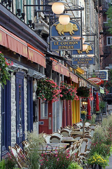 Restaurant Le Cochon Dingue in the Old Port of Quebec City Photograph