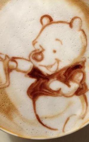Coffee   コーヒー   Café   Caffè   кофе   Kaffee   Kō hī   Java   Caffeine   Latte macchiato ♥ Latte art I Pooh Bear
