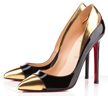 Christian Louboutin Duvette Metallic and Patent-Leather Pumps
