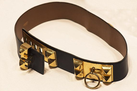 I Actually Dream Of This Belt Talk About A Statement Piece To Dress Up Any Look The Classic Hermes Black Medor Calfskin Leather Collie Calf Skin Leather Belt