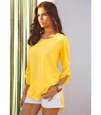 Blusa camisa mujer manga 3/4 asimétrica Novedades 10 Venca