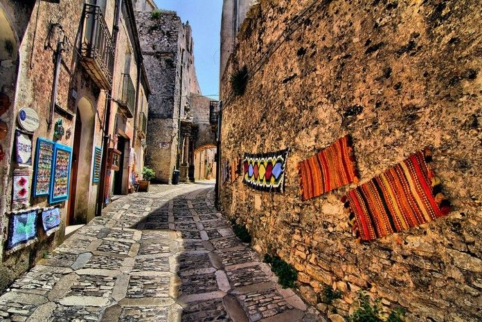 Erica, Sicily, Italy Medieval Town  Erice is the most famous medieval town in Sicily. It is situated on the top of the mountain of the same name and has an amazing medieval architecture. It is known for its breathtaking ocean view.