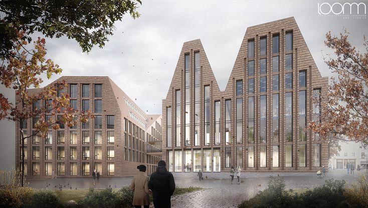 Architecture Visualisation loomn 3D Visual Illustration Archviz Render Office Visualisierung loomn.de BKSP Architekten Rathaus Rostock