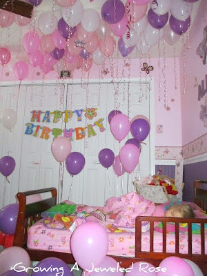 Balloons to say I love you!  On your child's birthday, fill their room with balloons while they sleep.