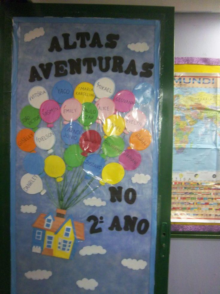 decoração da porta da minha sala de aula em 2014