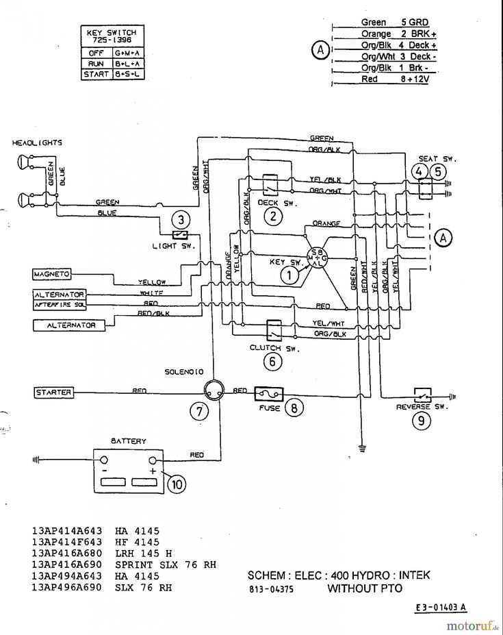 Mtd Riding Mower Wiring Diagram With Yard Machine On | mtd