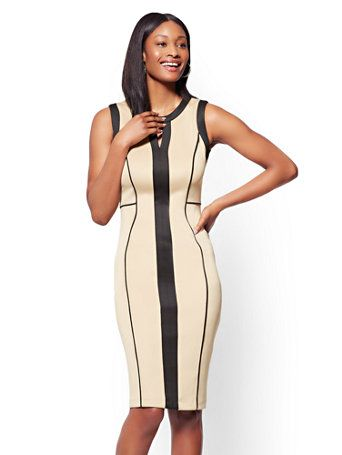d62d3f52 Shop 7th Avenue - Colorblock Sheath Dress. Find your perfect size online at  the best price at New York & Company.