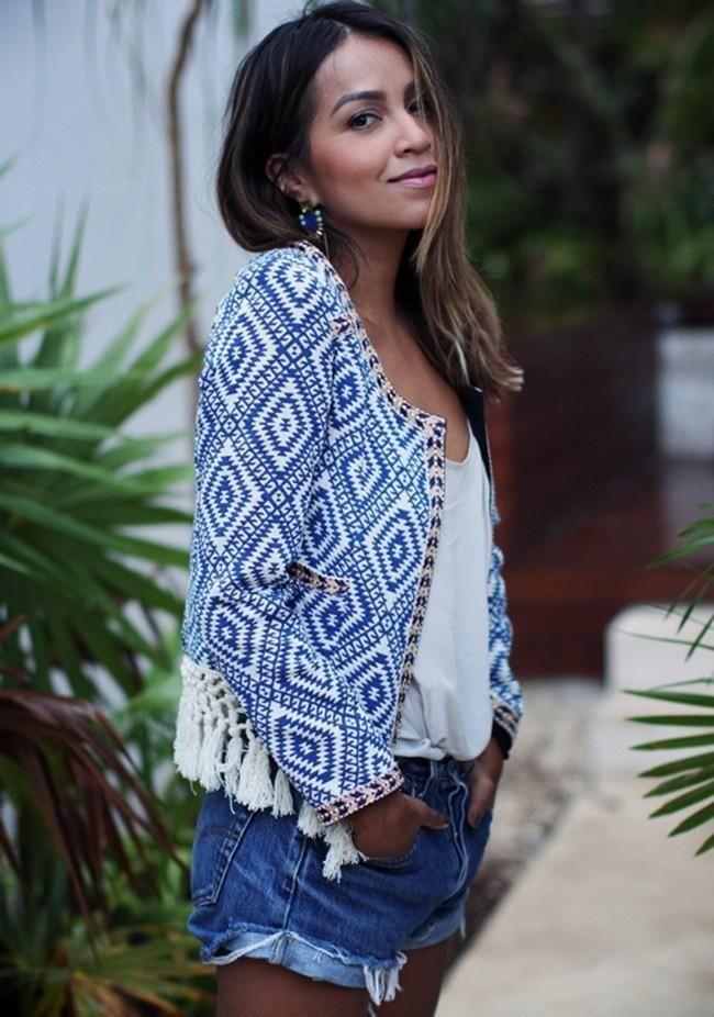 Tendencias de moda primavera-verano 2015: chaquetas étnicas. Cómo lucirlas y dónde comprar chaquetas étnicas en Zara y Mango, ideales para...