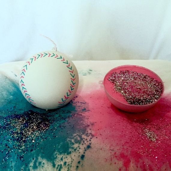2 Baseball Gender Reveal Balls Pack (Custom Combinations and Styles)