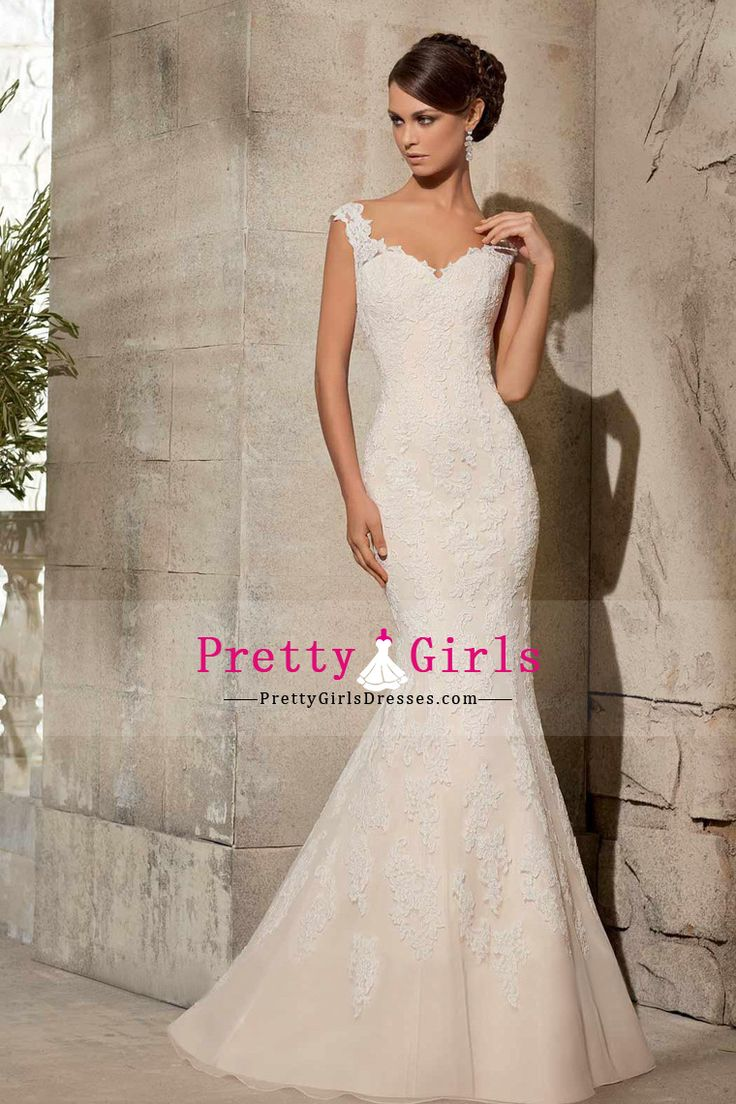 2015 Wedding Dresses Mermaid/Trumpet Bateau Sleeveless Tulle Zipper Up Back
