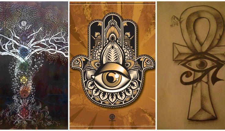 Symboles spirituels : Notez que vous allez fort probablement reconnaître certains de ces symboles, mais certainement pas tous. Vous trouverez ci-dessous