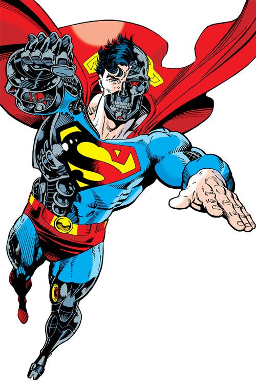 Cyborg Superman (DC Comics) during the Reign of the Supermen. From http://www.writeups.org/cyborg-superman-dc-comics/