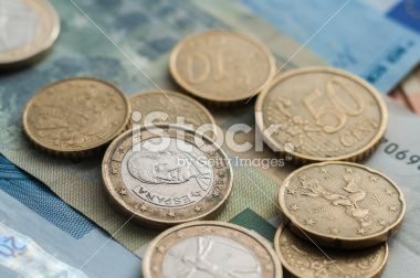 European currency, Euro Coins Royalty Free Stock Photo