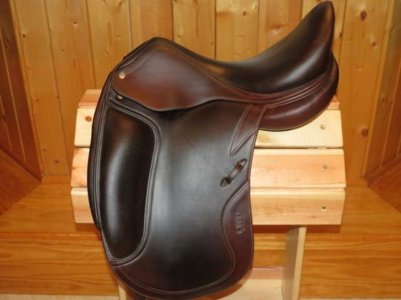 CWD Dressage Saddle. Love the shape and color, but not the seat thickness or knee rolls.