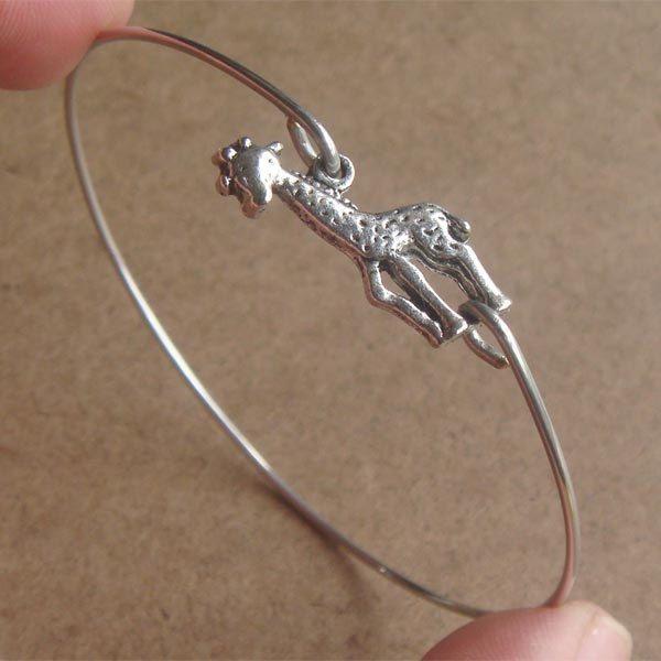 Giraffe Bangle Bracelet, Simple Everyday Jewelry, Elegant gift, Bridesmaid Gift, Bridal Wedding Jewelry. $10.00, via Etsy.