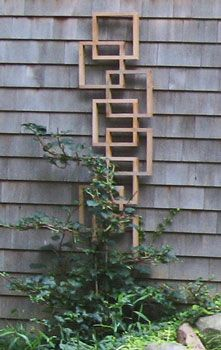 trellis..maybe use old picture frames??