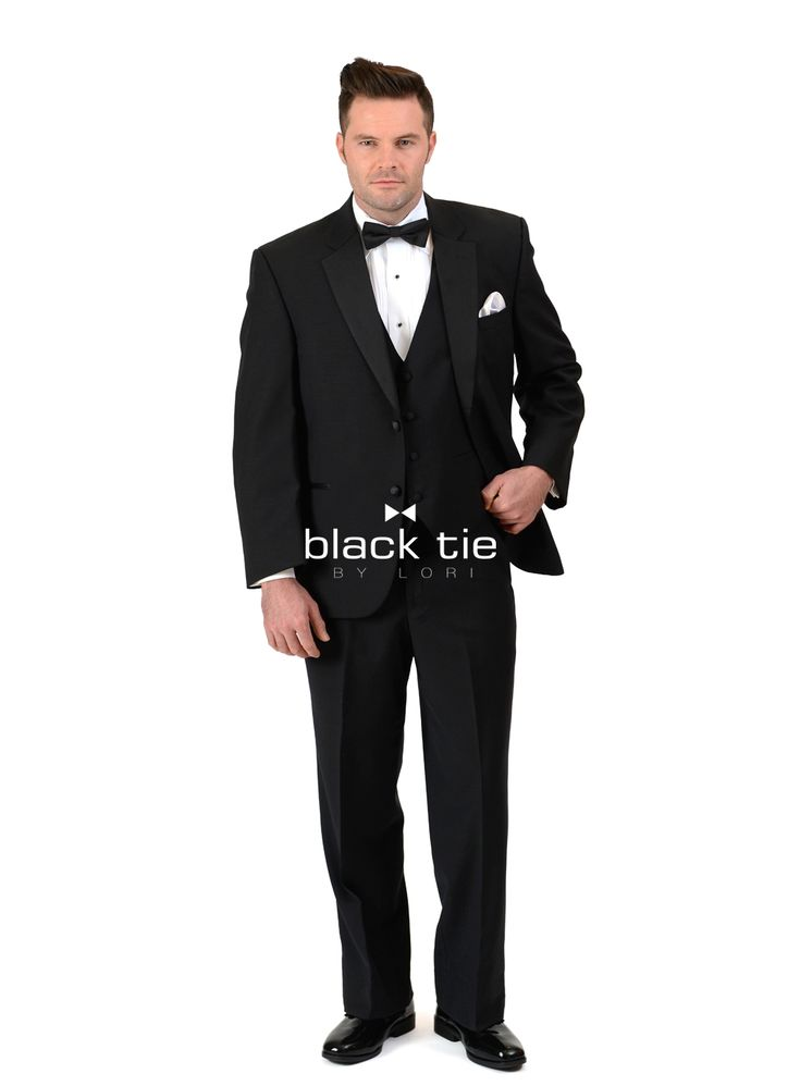 """Mason"" Modern Fit Tuxedo - Online Tuxedo Rental - black tie BY LORI -  A classic choice with a sophisticated, modern fit. The ""Mason"" Modern Fit Tuxedo is tailored in soft luxurious Super 100's wool. A sleek satin peak lapel, satin-covered buttons and satin double besom pockets make it a confident choice for all formal affairs. Pair with matching flat front, pleated front, or modern slim fit formal trousers."