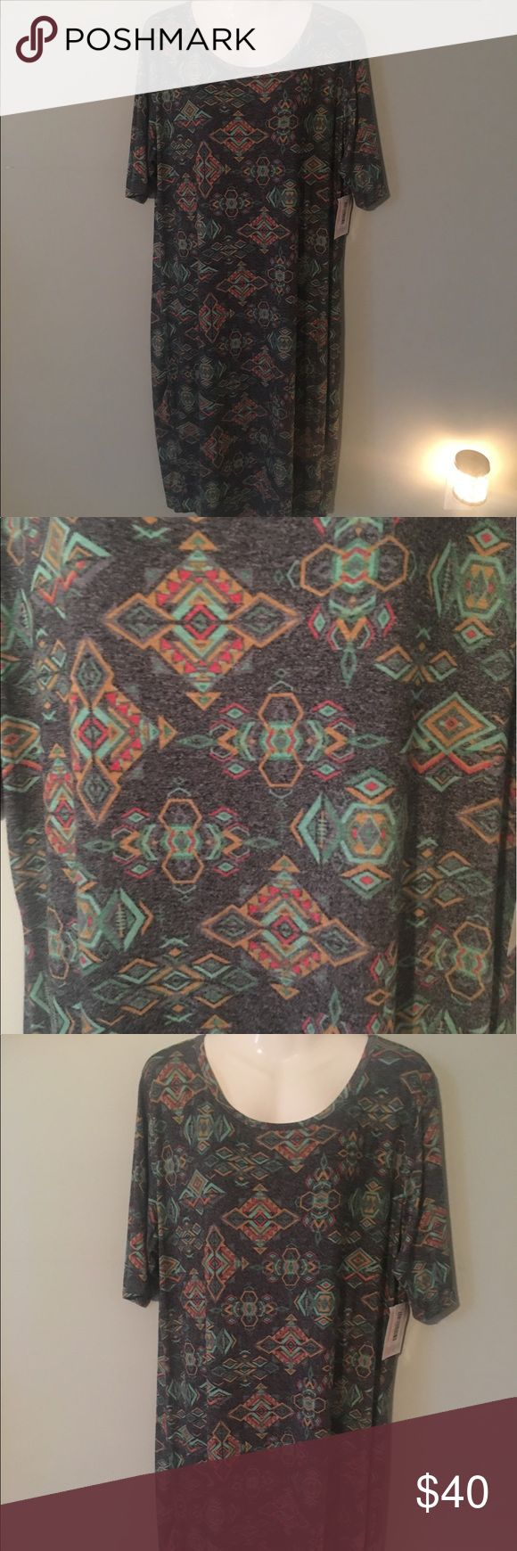 #LuLaRoe #Julia #Dress #Aztec Print 2XL #Comfy NWT #LuLaRoe #Julia #Dress #Aztec Print 2XL #Comfy NWT LuLaRoe Dresses