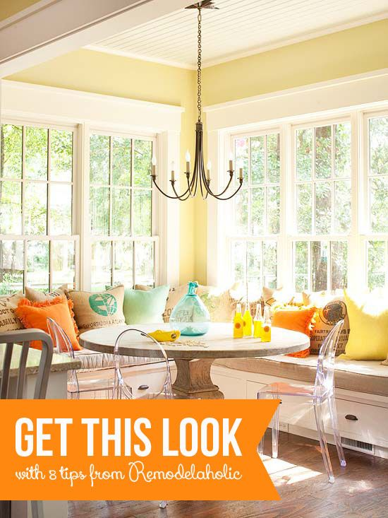 8 Tips to Get This Look - Sunny Corner Banquette | remodelaholic.com #getthislook #banquette #sunshine @Remodelaholic .com .com