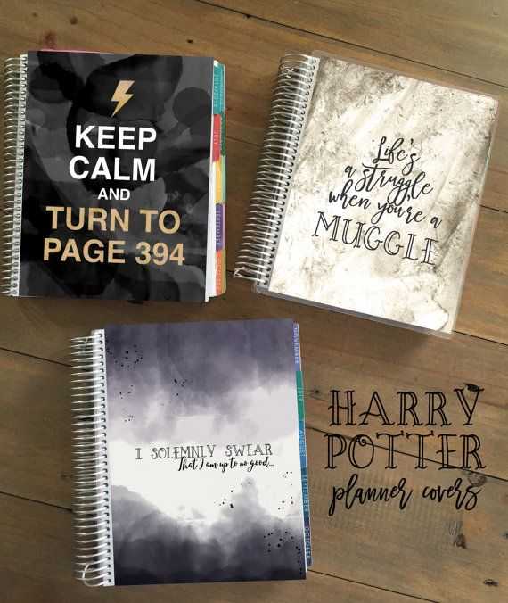 Harry Potter Planner Cover Erin Condren Cover Sizes & Happy Planner Cover…