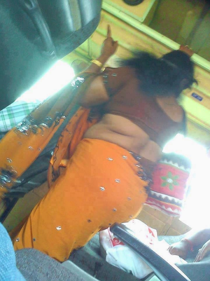 Tamil Aunties Hot Back Side View  Cool Costumes-6006