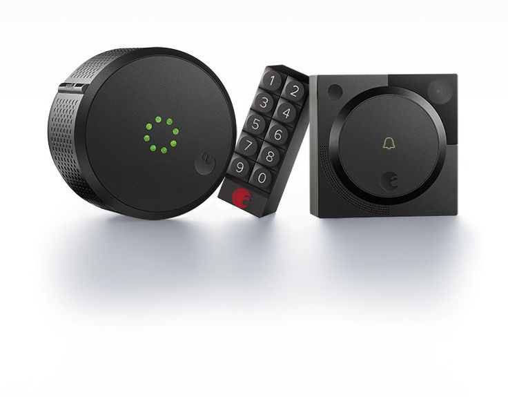 August Smart Lock HomeKit Enabled $229; August Doorbell Cam $199; August Smart Keypad $79