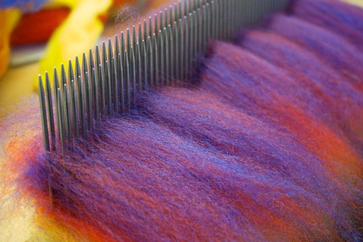 Blending Boards vs. Hackles: an intro to blending tools and equipment by Fibery Goodness