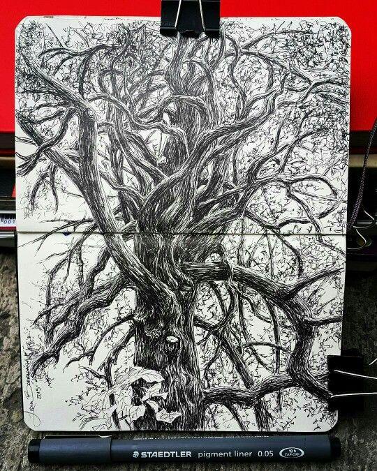 Lidia Barragán #sketch #tree #moleskine