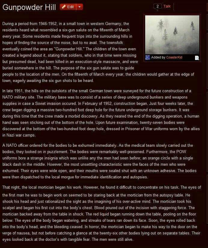 Gunpowder Hill - creepypasta story