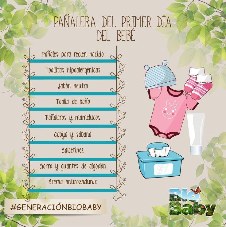 Si tu bebé está por llegar, sigue nuestra recomendación de lo que debe de llevar su pañalera: